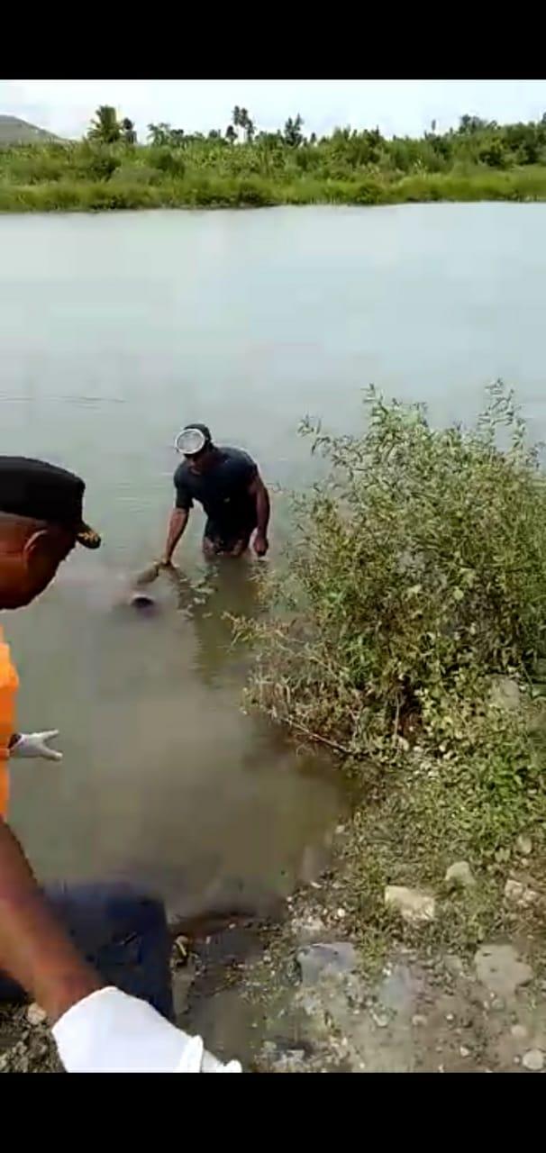 Fondo Negro: Defensa Civil recupera el cadáver  de un Joven  que se ahogó el domingo  en el río Yaque del Sur
