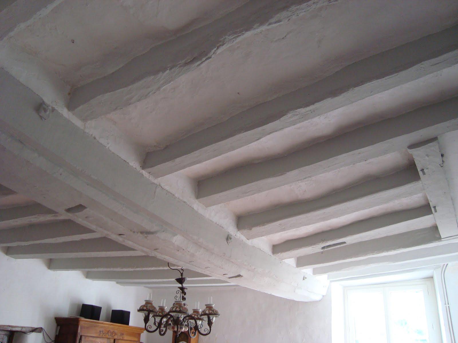 peindre poutres fonc es id e inspirante pour la conception de la maison. Black Bedroom Furniture Sets. Home Design Ideas