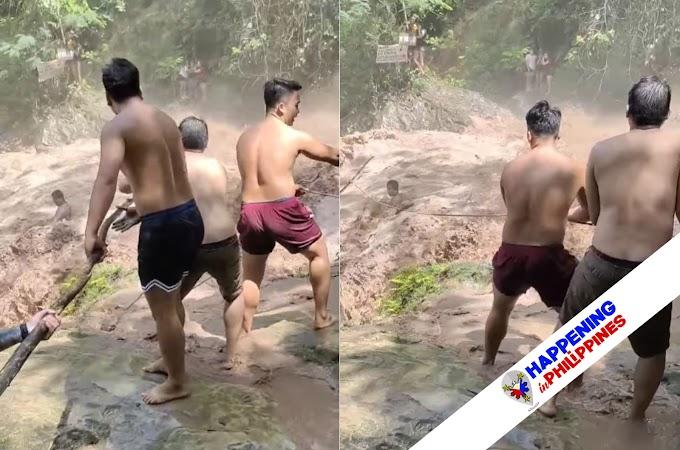 Isang Lalaki, 'Missing' Ngayon Matapos Sumabay sa Pagbagsak sa Rumaragasang Tubig sa Talon sa Cebu