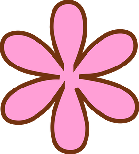 pink and brown flower