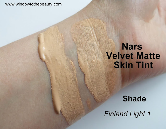 Nars Velvet Matte Skin Tint Shade Finland Light 1 swatches