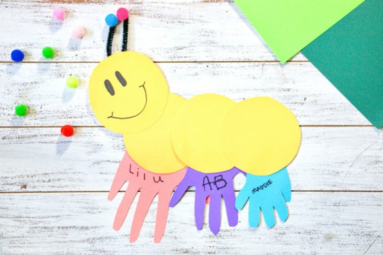 caterpillar paper craft for kids