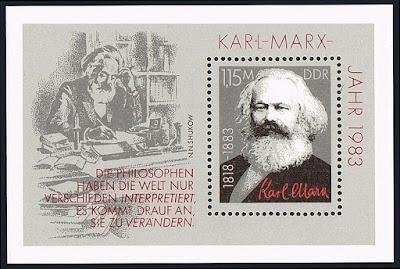 DDR Karl Marx, Portrait, 1983