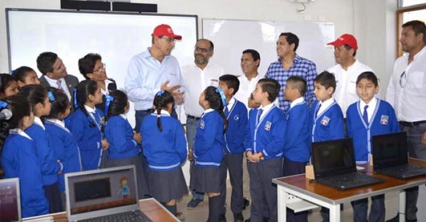 MINEDU: Presidente Vizcarra y ministro Alfaro inspeccionan renovado colegio de Trujillo que usa paneles solares - www.minedu.gob.pe