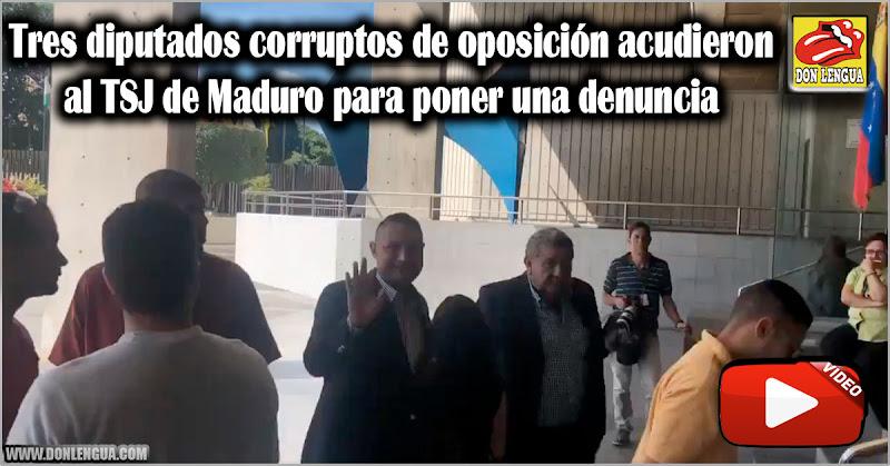 Tres diputados corruptos de oposición acudieron al TSJ de Maduro para poner una denuncia