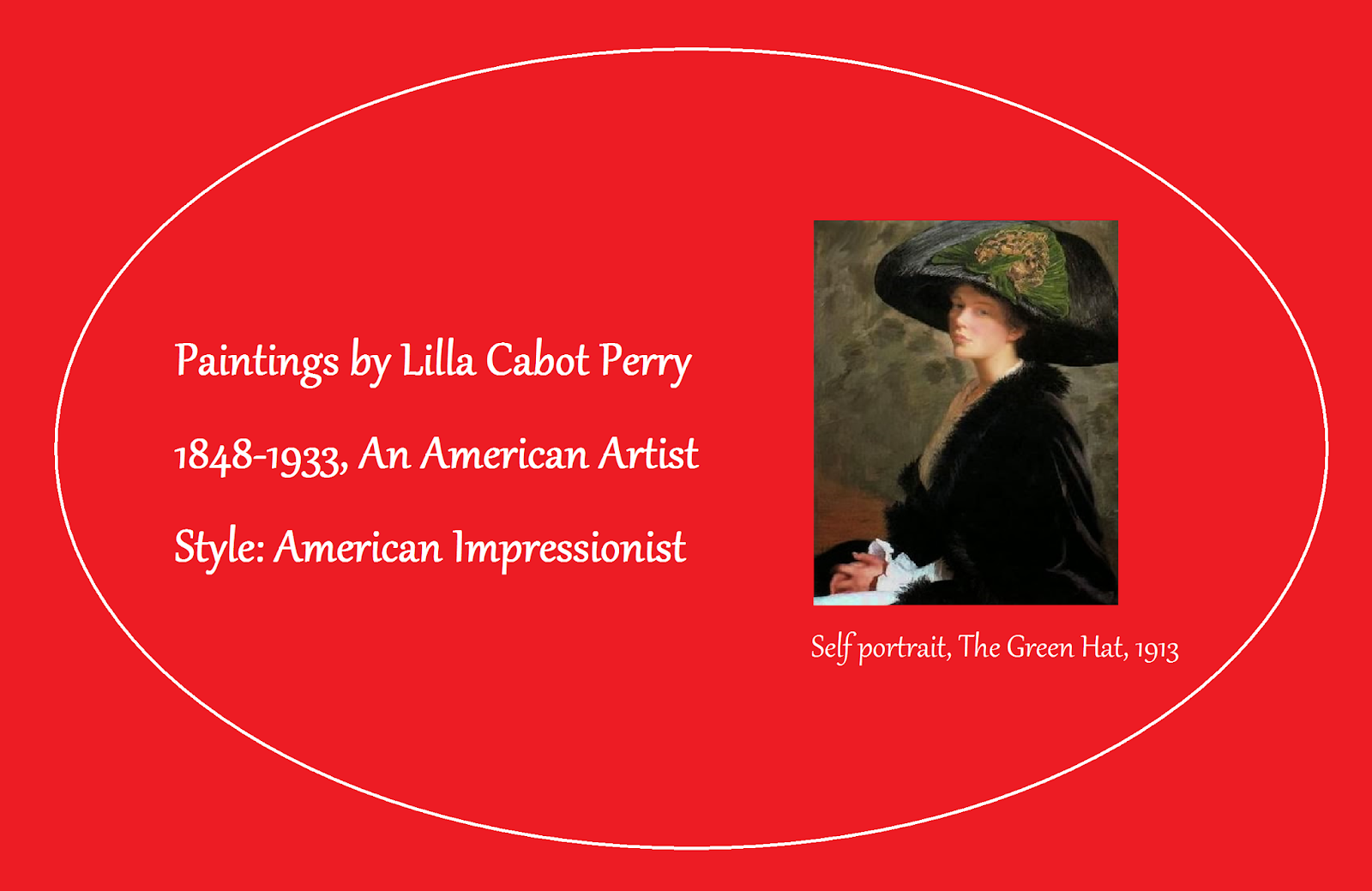 Paintings by Lilla Cabot Perry (1848-1933)