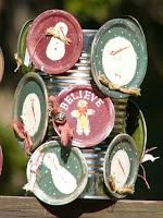 Tin food can as a display