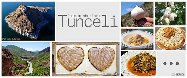 Tunceli'nin meşhur şeylerini gösteren resimlerden oluşan kolaj