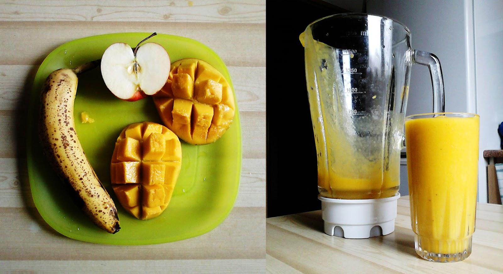 Owoce lub owocowy szejk
