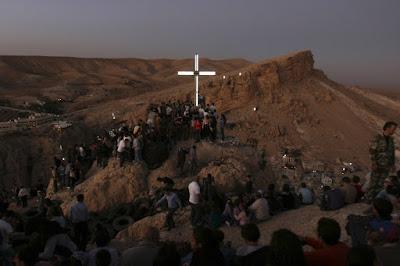 Η Μααλούλα κάθε χρόνο είναι το επίκεντρο των εορτασμών για την ύψωση του Τιμίου Σταυρού στη Συρία.
