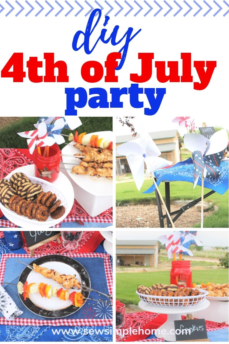 Simple And Creative Homemade 4th Of July Decorations Sew Simple Home