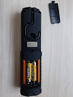 LED flashlight battery compartment