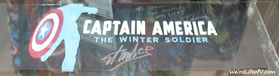 Captain America The Winter Solder signed chair back