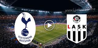 مشاهدة مباراة توتنهام ولاسك لينز بث مباشر بتاريخ 22-10-2020 في الدوري الأوروبي