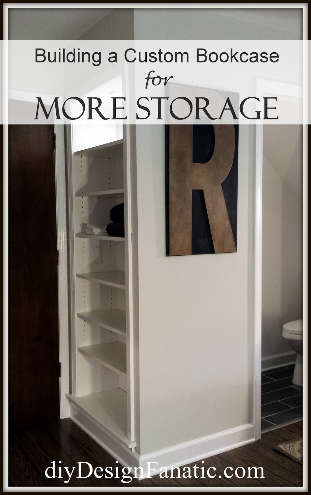 Mountain cottage, mountain cottage bedroom, Storage, Storage Shelves, bookcases, built in bookcase,cottage, cottage style, farmhouse, farmhouse style, diyDesignFanatic.com