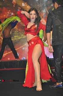 Telugu Actress Angela Krislinzki Spicy Dance Performance in Red Dress at Rogue Audio Launch 13 March 2017  0009.jpg