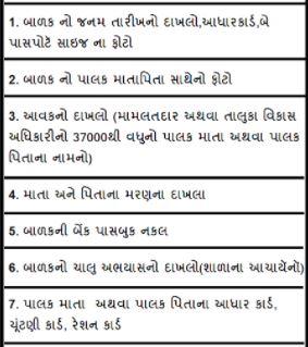 Palak Mata Pita Yojana Documents