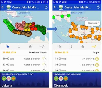 Informasi Cuaca Jalur Mudik Via Aplikasi Android InfoBMKG