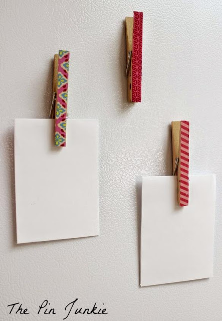 Clothespin Note Holders