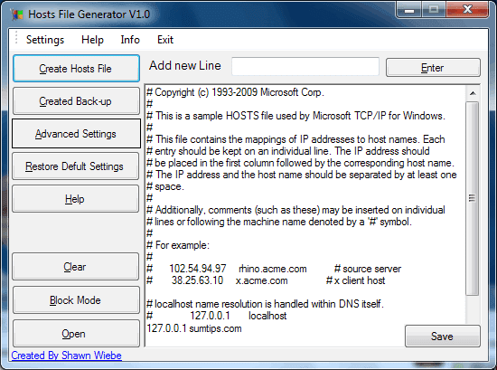 Hosts File Generator