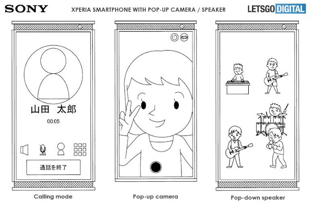Pop-up Speaker - New Smartphone in Making via Sony Xperia