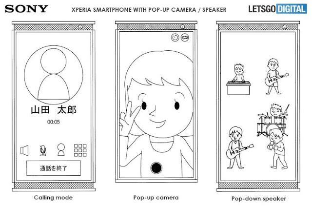 Pop-up Speaker - New Smartphone in Making via Sony Xperia
