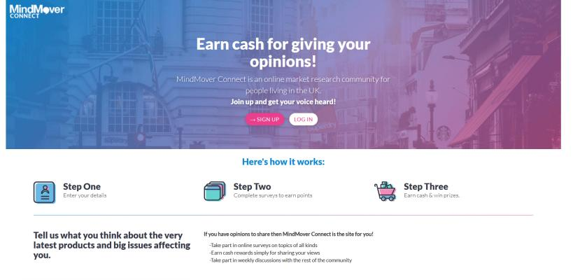 Mind Mover Connect is an online market research community
