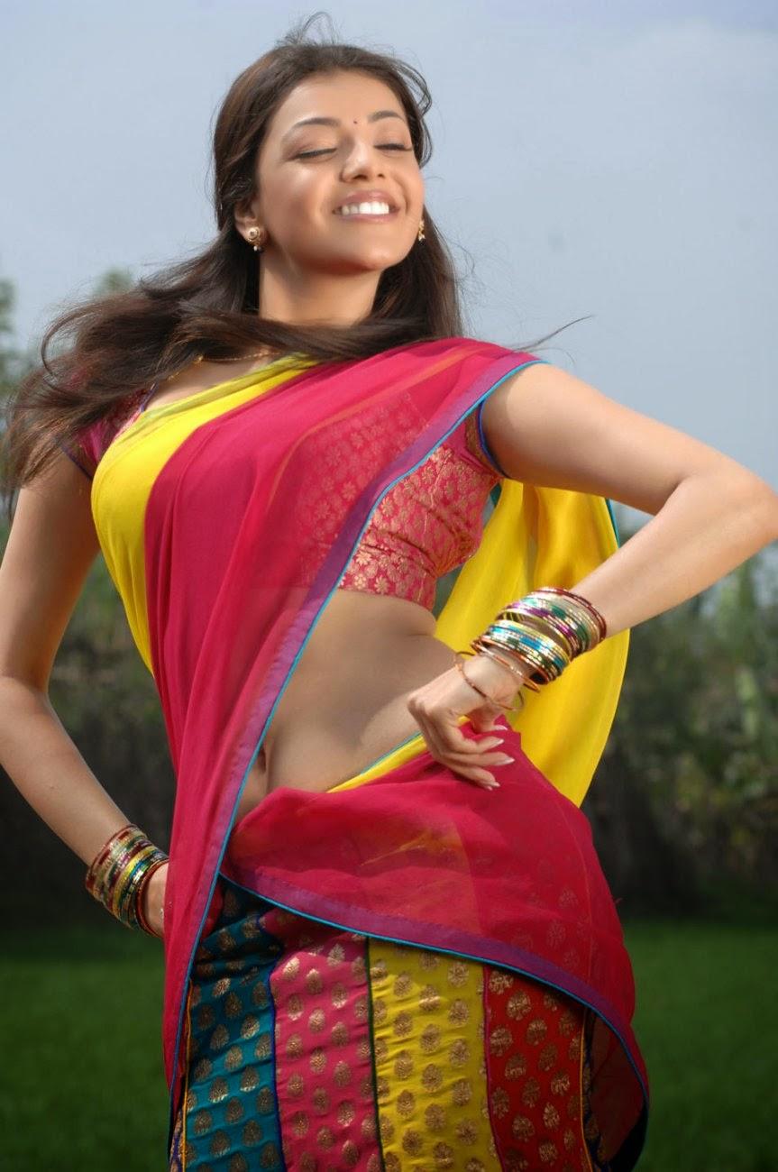 Kajal Agarwal Hot Hd Navel Images In Saree - Hot  Sexy -6365