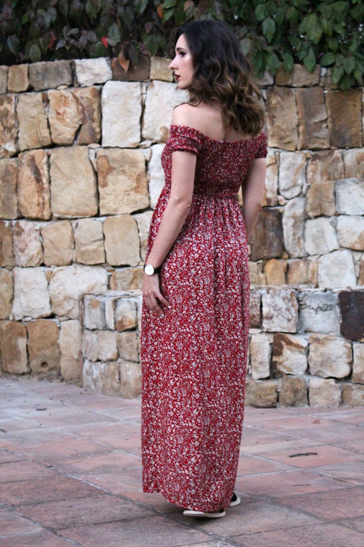 maxi dress, boho dress, choker, boho, tumblr, fashionmia, romwe, rosewholesale, moda, outfit