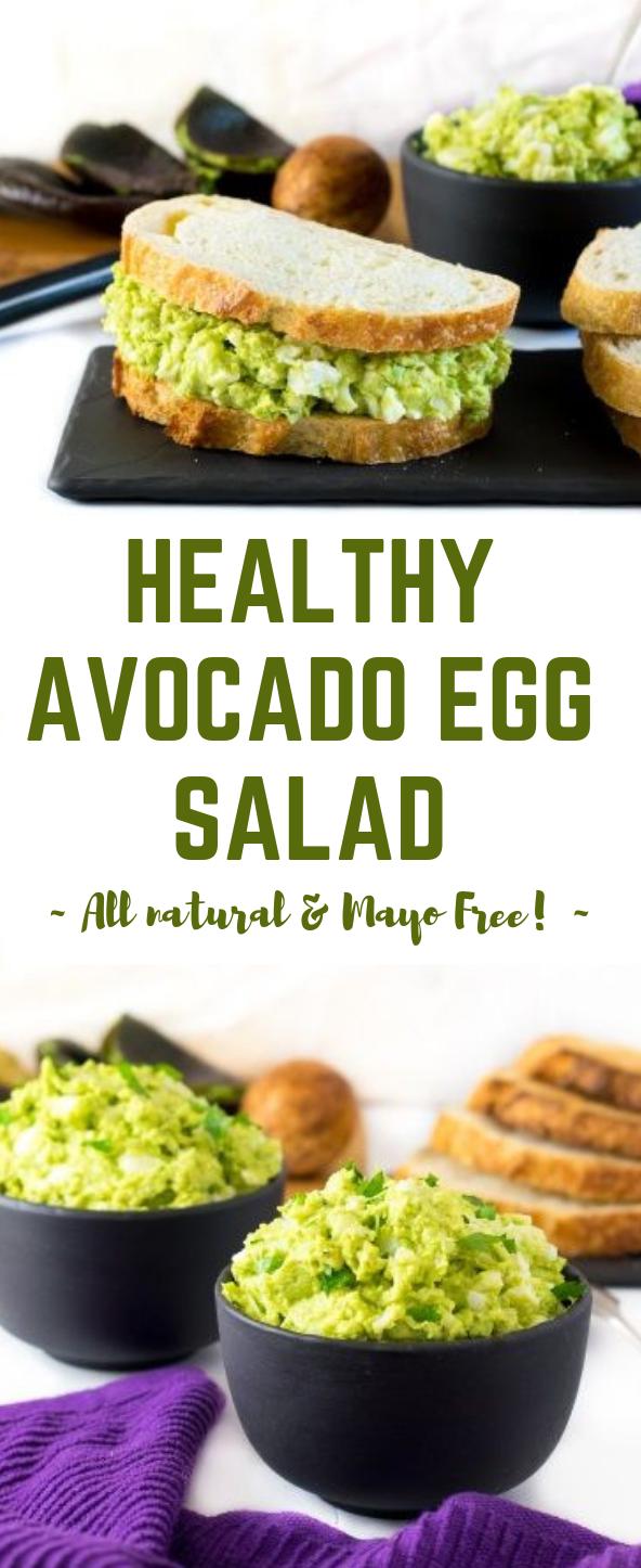 HEALTHY AVOCADO EGG SALAD #salad #egg