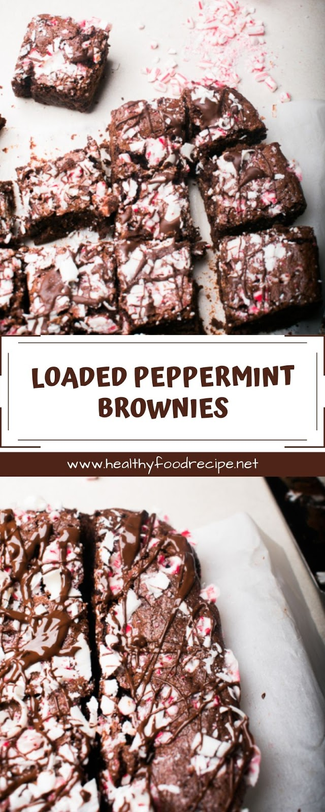 LOADED PEPPERMINT BROWNIES