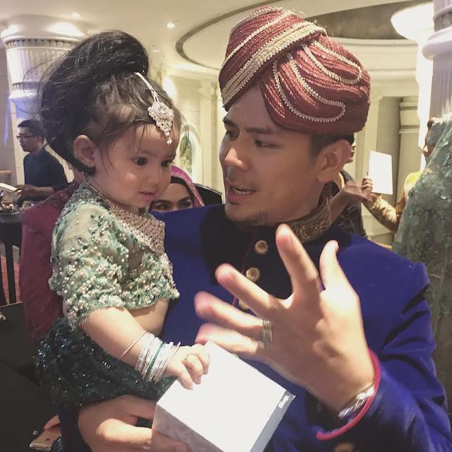 gambar Comel Aaisyah Dhia Rana di Majlis Resepsi Ruzaini dan Isteri