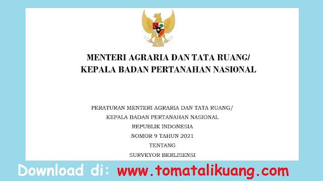 peraturan menteri agraria dan tata ruang atr kbpn nomor 9 tahun 2021 tentang surveyor berlisensi pdf tomatalikuang.com