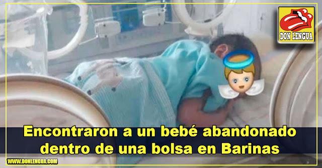 Encontraron a un bebé abandonado dentro de una bolsa en Barinas