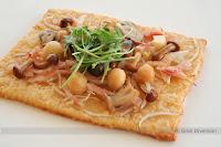Tarta Sablé de Parmesano con Setas Confitadas