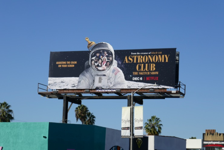 Astronomy Club Netflix extension billboard