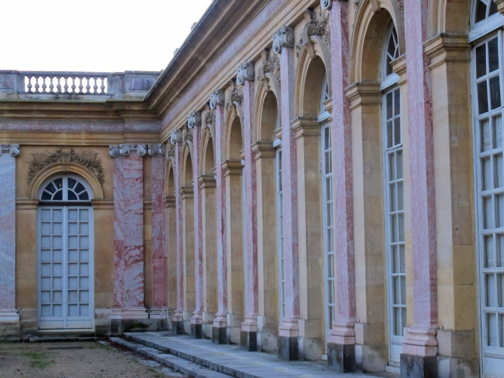 Beautiful pink marble Grand Trianon, Versailles Palace
