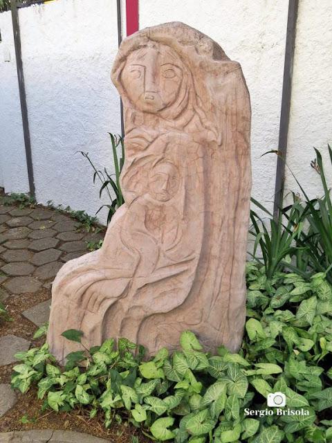 Close-up da Escultura Mãe e Filho (réplica) - Museu Lasar Segall - São Paulo
