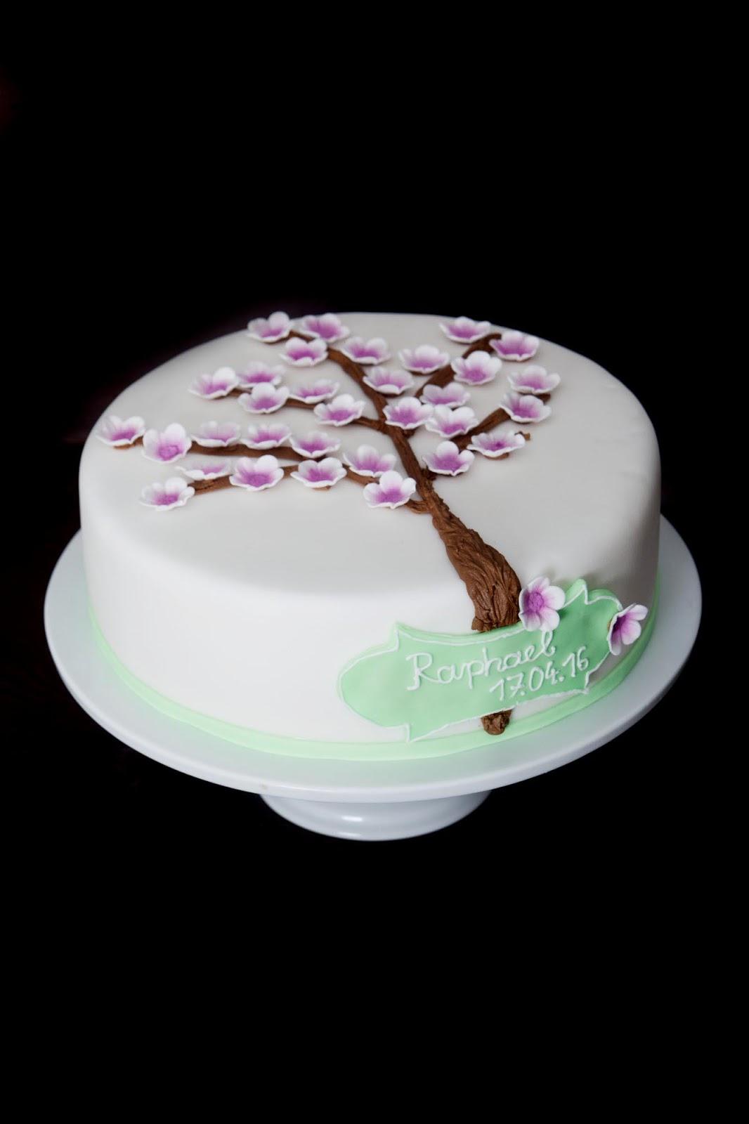 Kirschbl tentorte zur taufe von raphael for Torte zur taufe selber machen