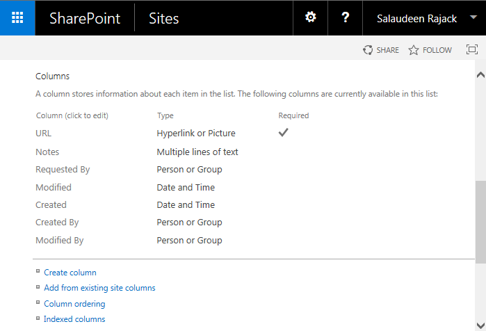 sharepoint powershell get list column