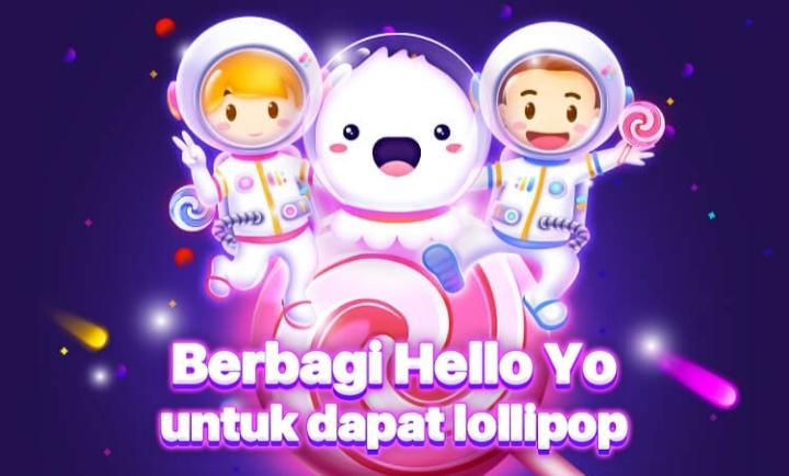 Cara Mendapatkan Lolipop Gratis di Hello Yo - Mediakoms