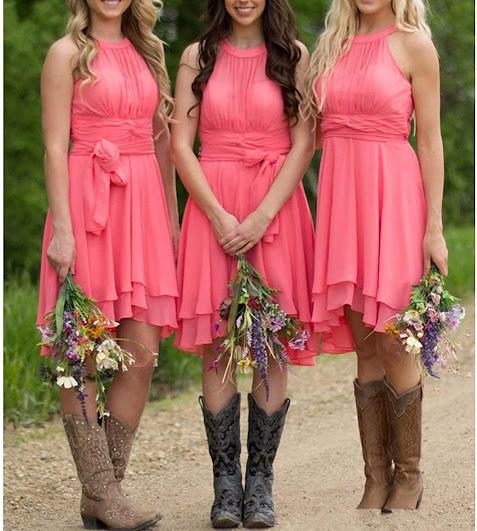 Knee Length Bridesmaid Dresses