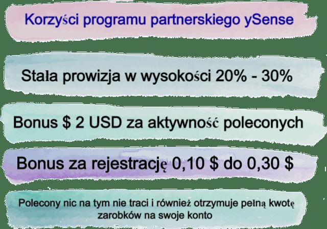 Korzyści programu partnerskiego ySense.