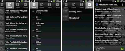 Aplikasi Default Music Player