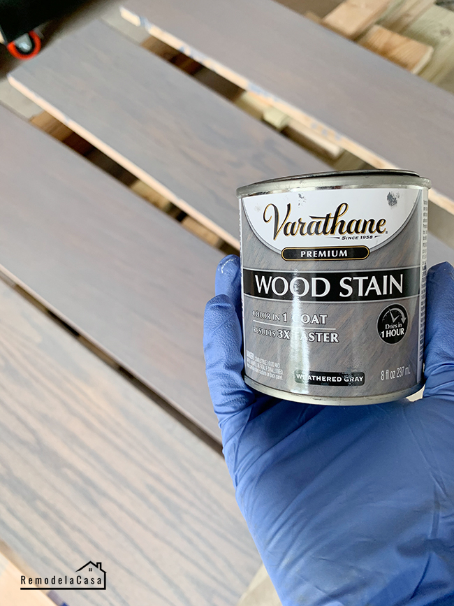 how to stain staircase treads