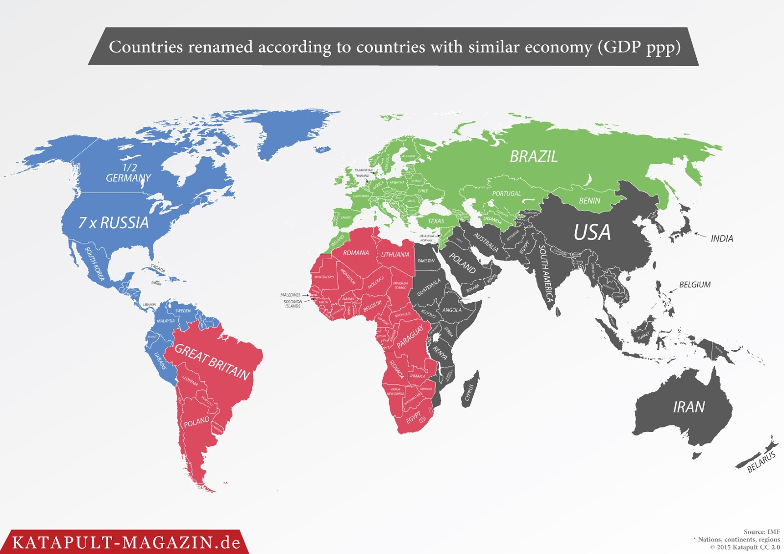 Countries renamed according to countries with similar economy (GDP)