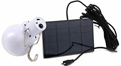 S-1200 LED Bulb with Solar Panel - Rechargeable Lantern for Outdoor Activities