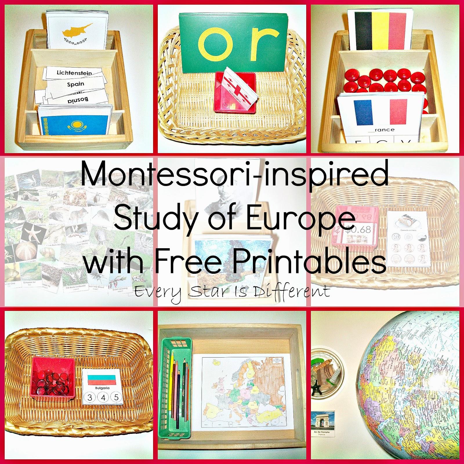 Montessori-inspired Study of Europe