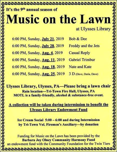 7-28 Music on Lawn, Ulysses