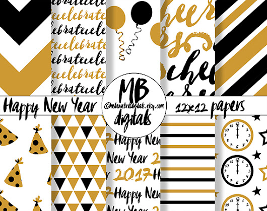 2017 New Year Paper Set
